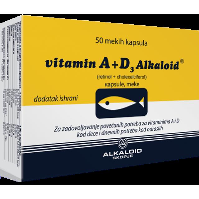VITAMIN A+D3 kapsule 50k