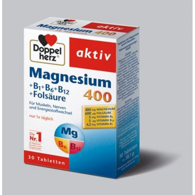 DOPPELHERZ AKTIV MAGNEZIJUM 400 TABLETE