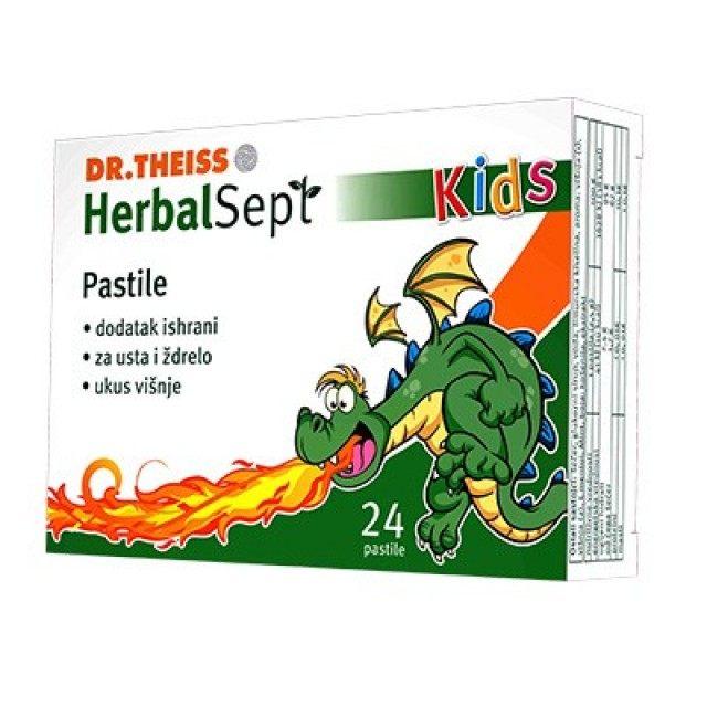 HERBALSEPT KIDS PASTILE 24k