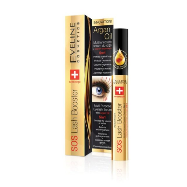 EVELINE LASH BOOSTER WITH ARGAN OIL 10ML